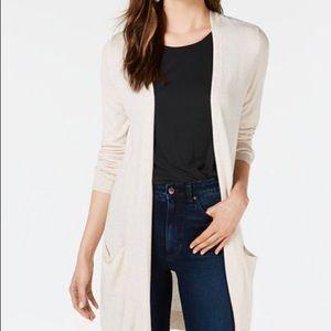 NWT Maison Jules Lightweight Long Cardigan Size XL